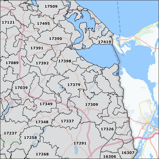 Duitsland Postcode 5 kaart