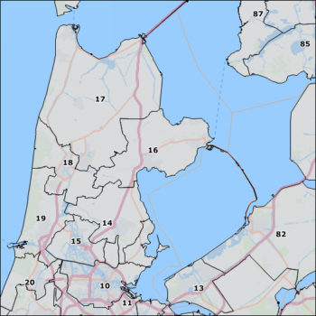 The Netherlands postal code 2 map