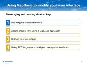 MapBasic Shortcut Keys