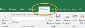 Extra menu for E-Maps