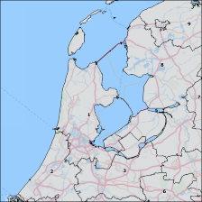 Dutch postal code map